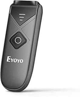 Eyoyo Bluetooth Barcode Scanner, Mini Portable Barcode Reader with USB Wired/Bluetooth/ 2.4G Wireless Connection 1D 2D QR PDF417 Data Matrix Image Scanner for iPad, iPhone, Android, Tablets PC