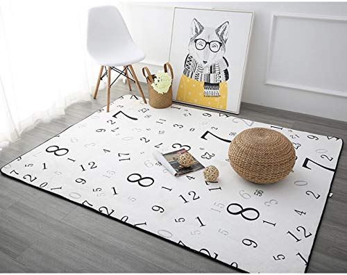 JONJUMP Alfombras de estilo nórdico para sala de estar, hogar, dormitorio, alfombra para mesa de café, alfombra para niños