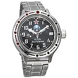 Vostok Amphibia 420288 - Reloj de buceo ruso para hombre (200 m, correa de acero inoxidable)