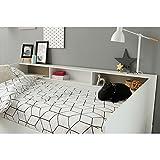 Funktionsbett Sleep Parisot 90 * 200 cm weiß mit Regalwand Jugendzimmer Kinderzimmer Gästezimmer Bett Kinderbett Jugendbett Bettliege - 6