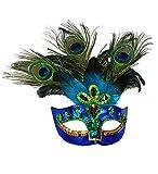 Maske Pfau Pfauenmaske Vogelmaske Paradiesvogel