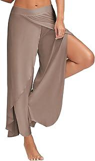 BOZEVON Ladies Pilates Pants,Plus Size Yoga Pants,High Waist Elasticated Bottoms,Harem Hippie Trousers Casual Pants