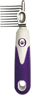 Our Other Baby Dematting Rake Comb for Dogs, Cats, Long Haired Animals – Dematter Pet Grooming Tool with Long, Sharp Blade Teeth for Detangling, Trimming Coarse Fur, Dense Hair – Purple
