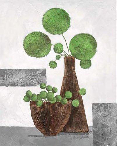 Keilrahmen-Bild - Claudia Ancilotti: Fresh Green Balloons 40 x 50 cm