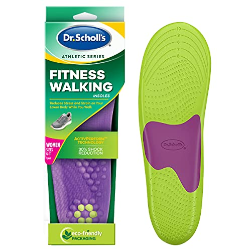 Dr. Scholl's FITNESS WALKING Insoles/Reduce Stress and Strain on your Lower Body while you Walk and Reduce Muscle Soreness ( for Women's 6-10, also available for Men's 8-14) 1 Pair