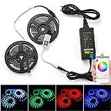 Smart RGBW LED Strip Set 5M 5050 SMD, con controlador Bluetooth 300 Leds 60W, tira de luz multicolor, 5A 12V, música compatible...