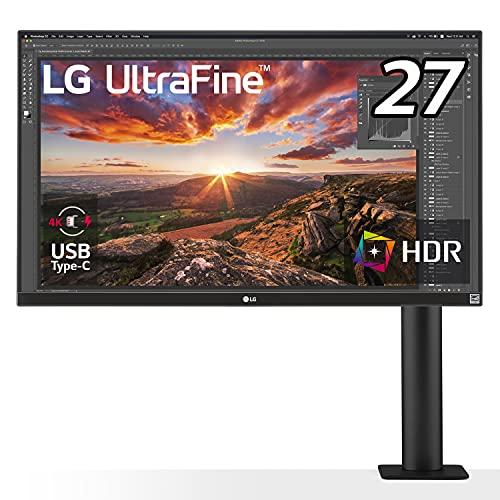 LG エルゴノミクス スタンド モニター ディスプレイ 27UN880-B 27インチ/4K/HDR/IPS非光沢/USB Type-C,HDMI×2、DP/FreeSync/スピーカー/チルト,スイベル,高さ調節,ピボット対応/フリッカーセーフ,ブルーライト低減