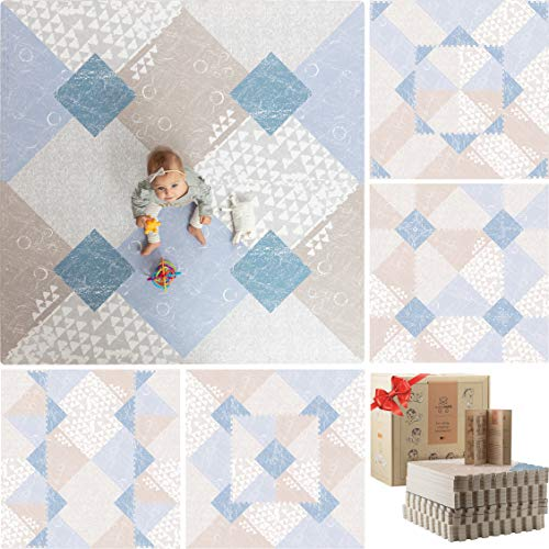 Cheapest Price! Teddy Mats Stylish Foam Play Mat for Baby - Non Toxic Floor Mat Tiles - Large Foam P...