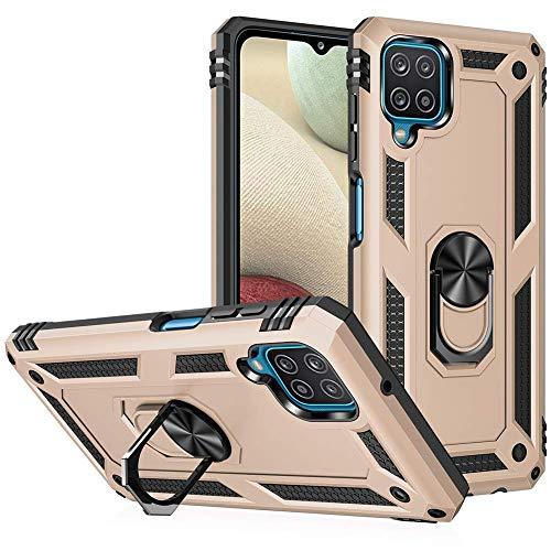 LORDZMIX Doble Capa Funda para Samsung Galaxy A12 5G Carcasa Dura Antigolpes con Función de Soporte y Cool Look Protector Case Fundas para Samsung Galaxy A12 5G