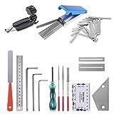 KEESIN Juego de herramientas de reparación de guitarra, 24 piezas, kits de limpieza para guitarra, ukelele, bajo, mandolina