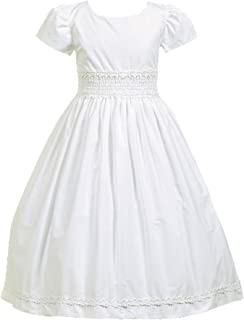 smocked communion dress