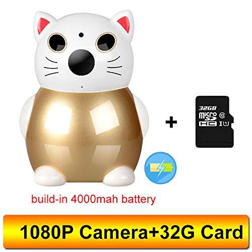 Draadloze videokleur babymonitor 1080 P baby kindermeisje veiligheid wifi camera nachtzicht cctv IP-camera baby bewaking 1080p+32gb