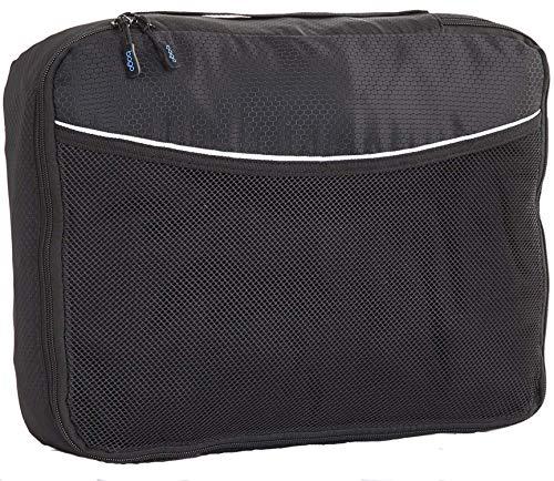 Bago Imballaggio Sacchetti Cubes Viaggi Organizzatore - unico Media Con Protector Nero
