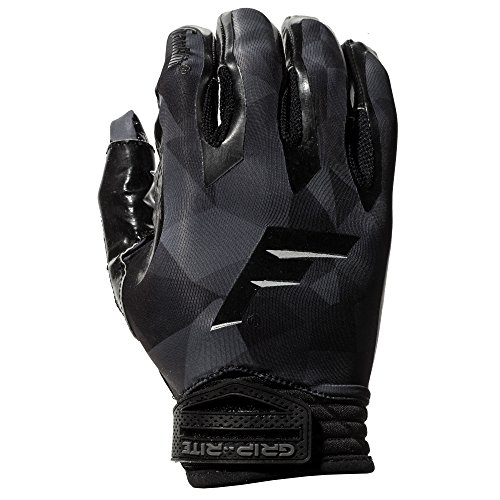 Franklin Sports Grip-Rite 1000 Football Receiver Gloves Black, Adult XX-Large