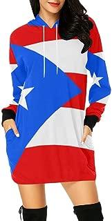 Puerto Rico Flag Women's Hoodie Mini Dress