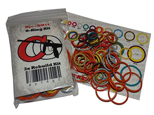 Captain O-Ring FEP Quest - Color Coded 3X Oring Rebuild Kit