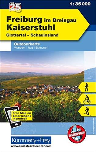 Freiburg im Breisgau - Kaiserstuhl, Glottertal, Schauinsland: Nr. 25, Outdoorkarte Deutschland, 1:35 000, Mit kostenlosem Download für Smartphone: ... (Kümmerly+Frey Outdoorkarten Deutschland)