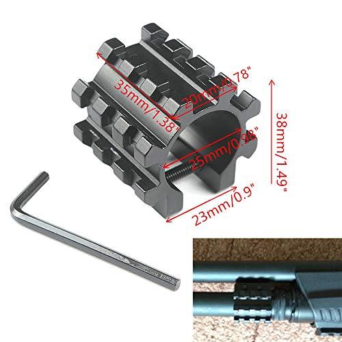 """WEREWOLVES 12GA Shotgun Magazine Tube Tri Schienenmontage 1""""Adapter Picatinny Mount 3 Schienen 5 Position Barrel Tube Rail Laser Sight Base"""