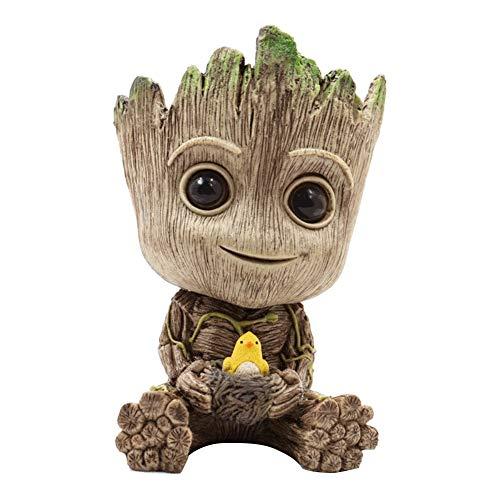 BEAUTYBIGBANG 2021 Groot Figurines Mode Pot de Fleur - Figurine d'action pour Plantes et stylos du Film Classique Bébé Groot (L)