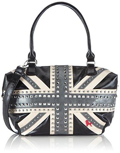 poodlebag Handtaschen Damen Schulter-Taschen mit Nieten im Union Jack UK Flaggen Design Funkyline Flag Thursday 3FL0714THUK
