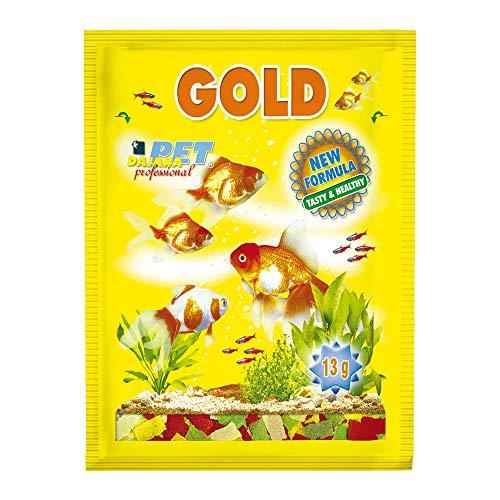 Dajana Gold-Flakes en flocons aliment complet pour poissons rouges voilés et poissons 500 ml