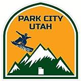 U.S. Custom Stickers Park City Utah Mountain Snowboard Sticker, 3'