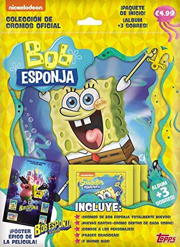 Topps- Bob Esponja Pack Inicio, Color (67352)