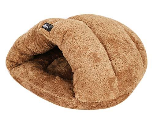 IBLUELOVER Katzenhöhle/Hundebett, Schlafsack, aus Plüsch, mittelgroß, für Hunde, Welpen, Haustiere, Dreieck-Kissen, Sofa, Bett, Haustiere, faltbar, Geschenk zu Weihnachten