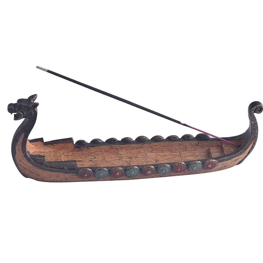 カテゴリー首謀者チケットTenflyer?スティック香中国の伝統的な家の装飾のためのドラゴンボート型香炉