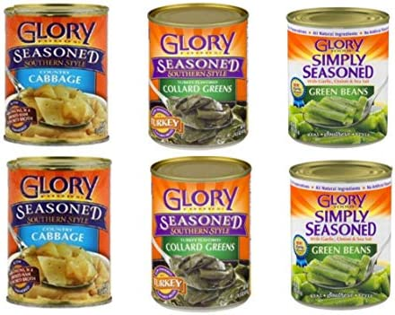 Glory Foods Variety Pack 2 Simply Seasoned Southern Style Turkey Flavored Collard Greens 2 Seasoned product image