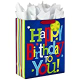 Hallmark 15' Extra Large Gift Bag with Tissue Paper for Birthday (Happy Birthday to You!)