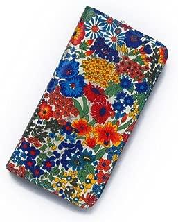 iPhone6s Plusケース iPhone7 Plus ケース iPhone8 Plusケース iPhone6s Plusケース 手帳型 リバティ マーガレットアニー(ネイビー)おしゃれ かわいい 花柄 磁石不使用でカード安全…