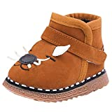 Mitlfuny Invierno Caliente Unisex Calzado Zapatos de Primeros Pasos de Bebé Dibujos Animados Terciopelo Terciopelo Botas Suela con Goma Zapatillas Niños Niñas Patucos Recién Nacido Infantil 0-15 meses