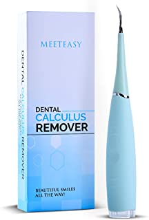 Electric Sonic Dental Calculus Plaque Remover Tool Kit - Tooth Scraper Tartar Removal Cleaner - Teeth Stain Eraser Polisher - Remove Tarter for Kids Adult - 100% Proven Safe Effective (Sky Blue)
