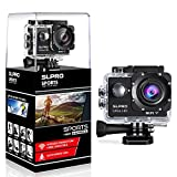 SLPRO Action Cam 1080P Full HD Unterwasser Aktion Kamera wasserdicht Helmkamera 170 ° Weitwinkel...