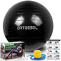 バランスボール arteesol 厚い 45cm/55cm/65cm/75cm/85cm 滑り止め 爆裂防ぎ ヨガボール 運動ボール 足踏みタイプのポンプ付き