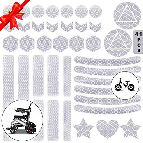 Reflektoren Aufkleber Sticker,Reflektor Aufkleber Set,reflexfolie selbstklebend,reflexfolie Fahrrad,Reflektoren Aufkleber für Kinderwagen Fahrrad und helme (A)