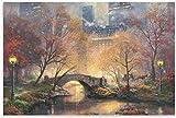 TANXM Foto Auf Leinwand 50x70cm Kein Rahmen Central Park im