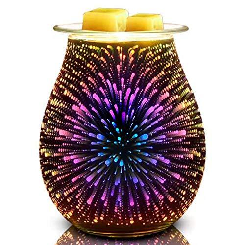 Wax Melt Burner Glass Wax Melt Warmer Electric Wax Burner YChoice365 Glass Electric Oil Burner Oil Aroma Burner Electric for Home Office Bedroom Living Room Gifts