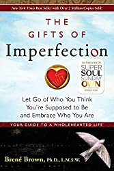 The Gifts of Imperfection by Brene Brown. Cover in this picture.