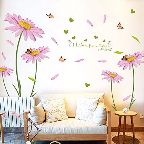 Wandaufkleber hause romantische holländische daisy wandaufkleber schlafzimmer wanddekoration wohnzimmer sofa hintergrund TV tapete aufkleber kreative selbstklebende, 60 * 90 CM