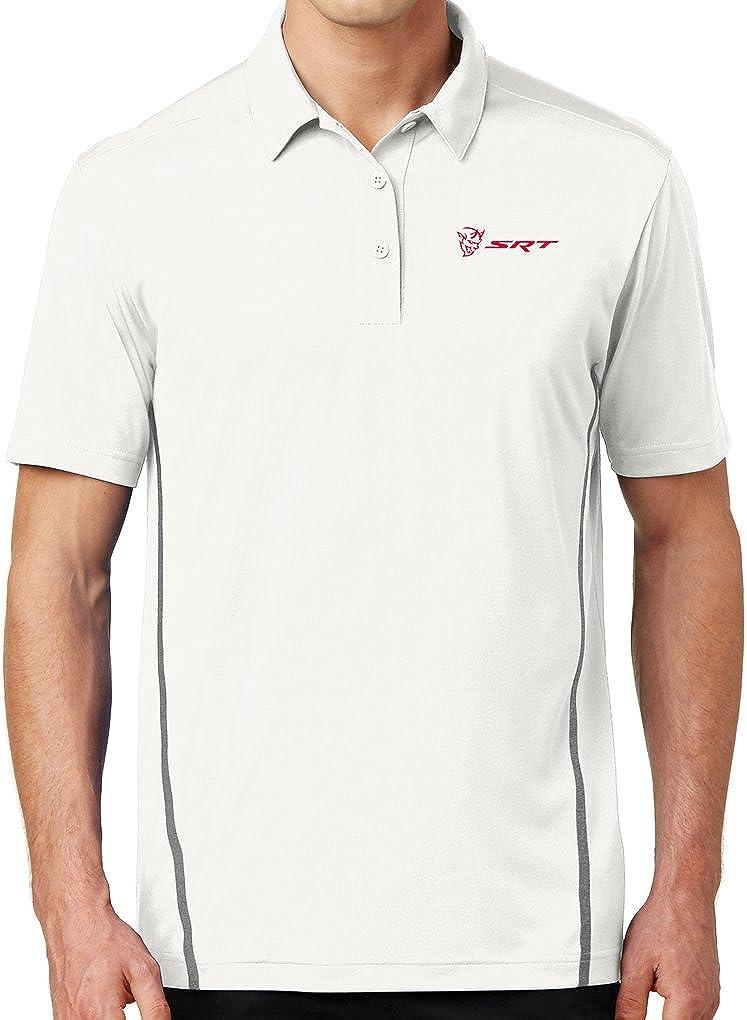 Mens SRT Dodge Demon Logo San High quality Jose Mall Fine Shirt Polo Contrast