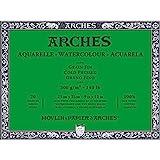 ARCHES Aquarelle 100% Fino 300g Bloc Encolado 4L 23x31 20 hojas Blanco Natural, color (A1795060)