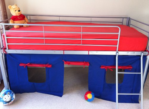 KOSY KOALA UNDER BED BLUE/RED TENT ONLY, SUITABLE FOR MID SLEEPER, CABIN BED, FUN & COLOURFUL