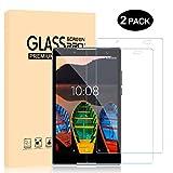 Protector Pantalla Lenovo Tab3 8 Plus, Dexnor [2 Piezas] Protectores de pantalla Cristal Templado Sin Burbujas 9H Dureza Resistente a Arañazos Alta Definicion