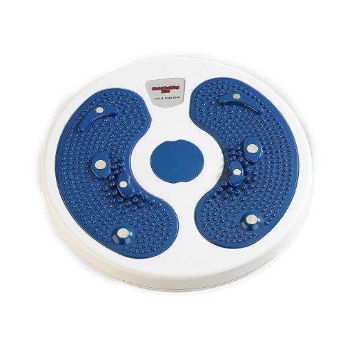 Newgen Medicals Hüfttrainer: Fitness Waist Twisting Disk für die schlanke Taille, Ø 28cm, bis 90kg (Fitness Drehscheibe Übungen)