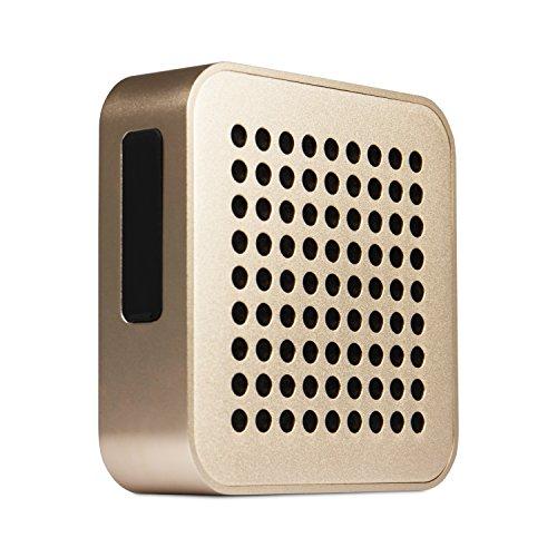 BLAUPUNKT BT 50 GL Bluetooth Lautsprecher mit Mikrofon für Freisprecheinrichtung Box/Stereoanlage wireless - Akku Musikanlage Audio System und Bass 5 W RMS (TV/PC/Musik-Streaming) gold