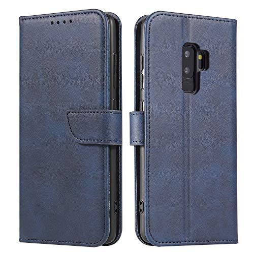 Ancase Custodia Portafoglio per Samsung Galaxy S9 Plus Blu Flip Cover in Pelle aLibro Wallet Case Porta Carte per Donna Ragazza Uomo