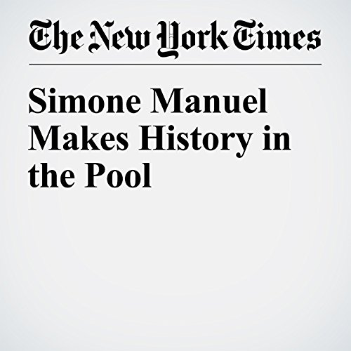 Simone Manuel Makes History in the Pool audiobook cover art