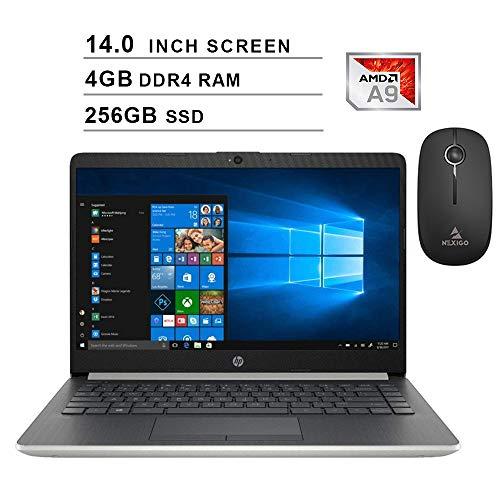 2020 Newest HP Pavilion 14 Inch Premium Laptop| AMD A9-9425 up to 3.7GHz| 4GB DDR4 RAM| 256GBGB SSD| AMD Radeon R5| WiFi| Bluetooth| Windows 10 Home S + NexiGo Wireless Mouse Bundle